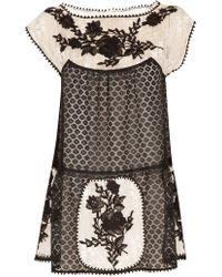 Anna Sui Medallion Combo Lace Mini black - Lyst