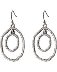 Lucky Brand Silver Orbit Earring - Lyst