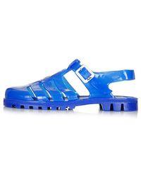 Topshop Juju Huey2 Maxi Jelly Sandals - Lyst