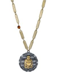 Tru. - Gold-tone Sitting Buddha Pendant Necklace - Lyst