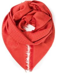 Gucci Square and Diamond Embroidered Scarf - Lyst