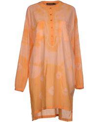 Antik Batik Orange Short Dress - Lyst