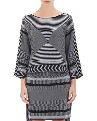 Tess Giberson - Mixed Intarsia-Knit Crop Sweater-Grey Size S - Lyst
