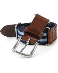 Polo Ralph Lauren Striped Icon Belt - Lyst