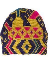 Tak.ori - Intarsia Knit Beanie - Lyst