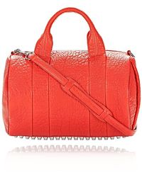 Alexander Wang - Rocco Satchel In Pebbled Cola With Rhodium Hardware - Lyst