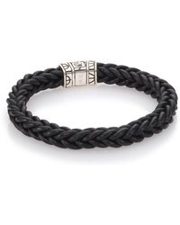 John Hardy | Braided Leather & Sterling Silver Bracelet | Lyst
