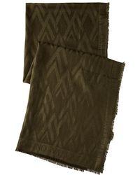 Valentino V Allover Silk Wool Jacquard Scarf - Lyst