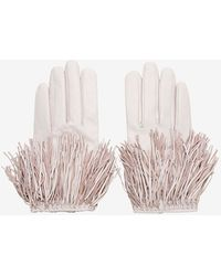 Exclusive For Intermix - Fringe Gloves: Pink - Lyst
