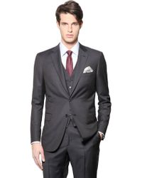 Brioni Brunico Super 150'S Wool Microcheck Suit blue - Lyst