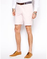 Asos Slim Fit Shorts in Oxford - Lyst