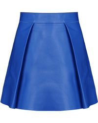 DSquared² Leather Skirt blue - Lyst