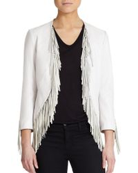 Rebecca Minkoff Ace Leather Fringe Jacket - Lyst