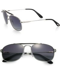Tom Ford Marlon Metal Aviator Sunglasses - Lyst