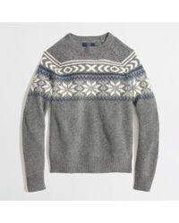 J.Crew Factory Lambs Wool Snowflake Fair Isle Sweater - Lyst