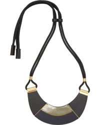 Marni Black Leather Necklace - Lyst