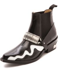 Toga Pulla Western Cheslea Boots Black - Lyst