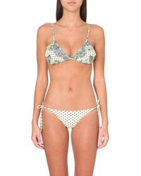 Zimmermann Ceramic Frill Triangle Bikini - For Women - Lyst