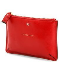 Anya Hindmarch Loose Pocket I Love You Bag Bright Red - Lyst