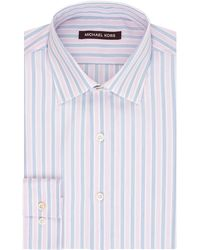 Kors By Michael Kors Regular Fit Stripe Dress Shirt - Lyst