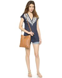 Tory Burch Issy Tunic Cover Up - Tory Navyivory - Lyst