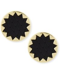 House Of Harlow Sunburst Snake Embossed Leather-inlay Earrings - Lyst