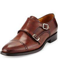 Gordon Rush Double-Monk Slip-On Shoes - Lyst