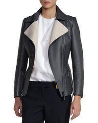 Fendi Pickstitched Selleria Leather Jacket - Lyst