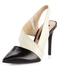 Steven By Steve Madden Wilma Leather Stiletto Pump Black Multi 7 12 - Lyst