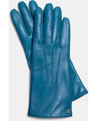 COACH - Iconic Leather Glove - Lyst