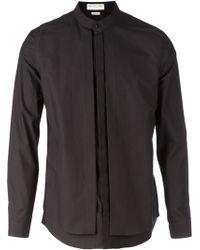 Balenciaga Concealed Button Fastening Band Collar Layered Shirt - Lyst