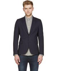 Paul Smith Navy Classic Wool Blazer - Lyst