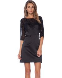 Milly Seamed Bustier Sleeve Dress - Lyst