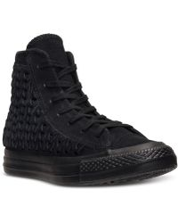 Converse Women'S Chuck Taylor All Star Elevated Woven Hi Casual Sneakers From Finish Line - Lyst
