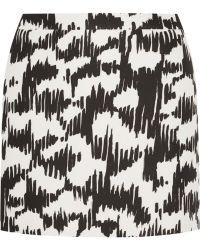 Balenciaga Printed Mikado Mini Skirt - Lyst