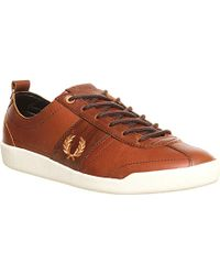 Fred Perry Bradley Wiggins Stockport Leather Trainers - For Men - Lyst