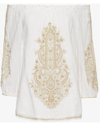 Christophe Sauvat   Exclusive Metallic Embroidery Top   Lyst