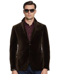 Ralph Lauren Black Label Velvet Nigel Sport Coat - Lyst