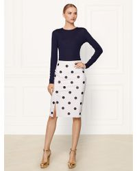 Ralph Lauren Collection Polka-dot Wool Tasha Skirt - Lyst