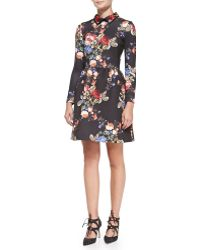 ERIN Erin Fetherston - Long-sleeve Floral-print Cocktail Dress - Lyst