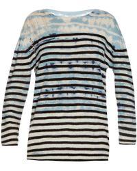 Raquel Allegra | Tie-dye Striped Wool And Cashmere-blend Sweater | Lyst