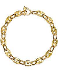 Lauren by Ralph Lauren Gold-tone Metal Link Rope Necklace - Lyst