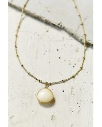 Urban Outfitters Passed Down Pearl Pendant Necklace - Lyst