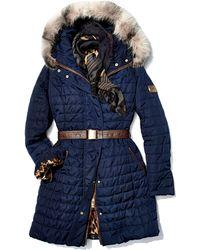 Gorski Apres-Ski Fur-Trim Belted Jacket - Lyst