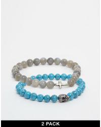 Simon Carter - Semi Precious Bracelet Pack Exclusive To Asos - Lyst
