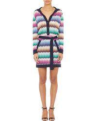 Missoni Chevron Crochet Shirtdress - Lyst