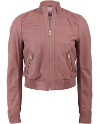 Twin Set | Leather Bomber | Lyst