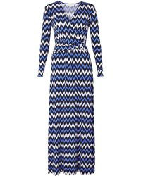 MICHAEL Michael Kors Printed Twisted Waist Maxi Dress - Lyst