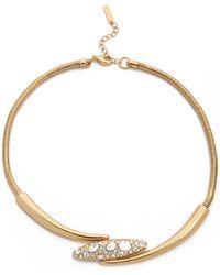Rachel Zoe - Pave Pod Collar Necklace - Lyst