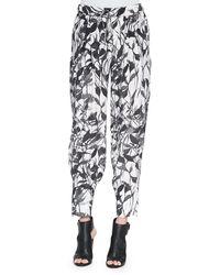 Haute Hippie Champ Knit Floral-Print Pants - Lyst